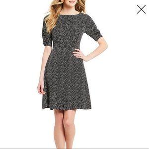 IMNYC  Black Scattered Dot Fit/Flare Dress